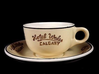 Hotel Wales Calgary Cup Saucer Medalta Restaurant China Dinnerware Canada