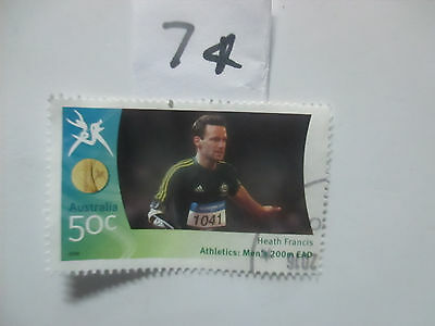 N o -74--2006 COMMONWEALTH  GAMES  -USED  50c  VALUES  ---A1  ORDER