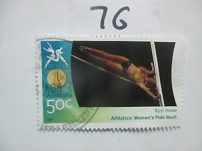 N o -76--2006 COMMONWEALTH  GAMES  -USED  50c  VALUES  ---A1  ORDER