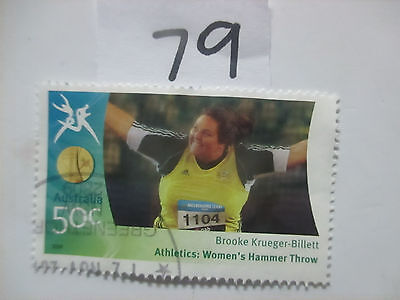 N o -79--2006 COMMONWEALTH  GAMES  -USED  50c  VALUES  ---A1  ORDER