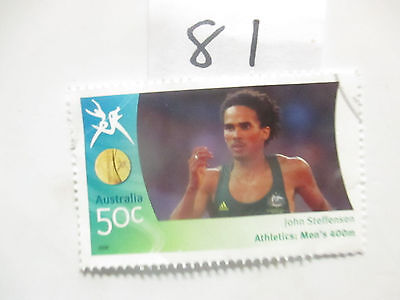 N o -81--2006 COMMONWEALTH  GAMES  -USED  50c  VALUES  ---A1  ORDER