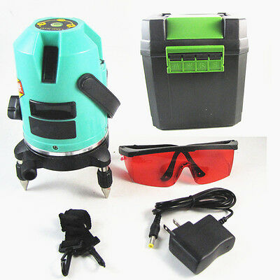 360 Rotary Cross Automatic Self Leveling 5 Line 6 Point Laser Level Measure