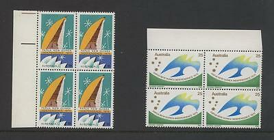 AUSTRALIA-1975 PAPUA INDEPENDENCE,SET IN BLOCK OF 4,  MUH, (a91)
