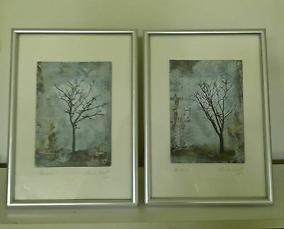Two framed collage mixed media  ORIGINAL art works....WINTER 1& 11