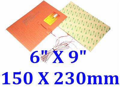 230mm X 150mm 150W 12V with NTC100K 3950With 3M Rubber Heater Silicone Pad 1 PC