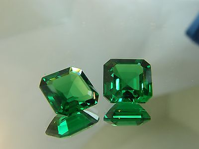 15 cts HUGE  Lab created synthetic biron simulant  Emerald very fineSQUARE SHAPE