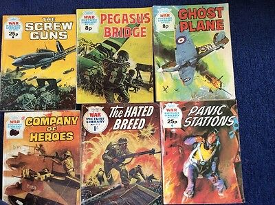 6 War picture Library comics