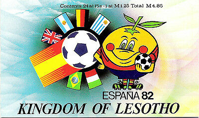 Complete Carnet Booklet New MNH Lesotho Football Spain 1982 World Cup