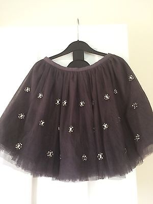 Girls  Autograph Grey Embellished Netted Skirt Age 7-8