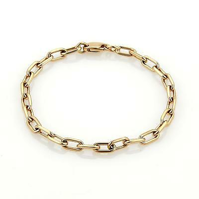 "Cartier Spartacus 18k Rose Gold Oval Chain Link Bracelet 7.5"" Long"