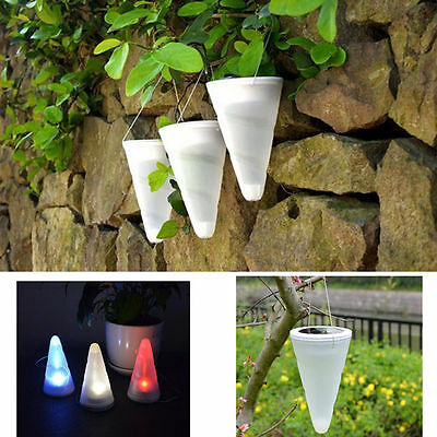 4xOutdoor Color Changing LED Solar Energy Lawn Lamp Waterproof Lights