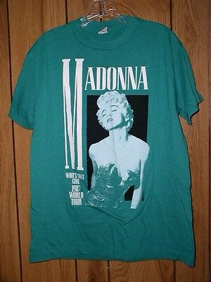 Madonna t Shirt Vintage 1987 Who's That Girl World Tour Concert Tee 1980s pop