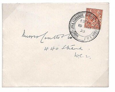 D96 1933 GB EXHIBITIONS *Monetary & Economic Conference* CDS London Super Cover
