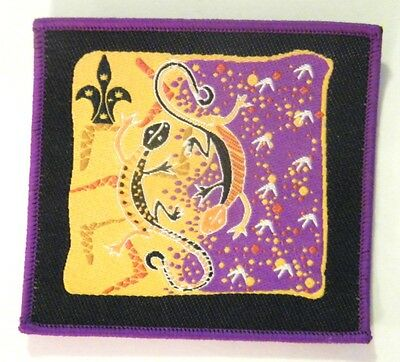 ABORIGINAL ARTWORK - GOANNA DESIGN - Australian Scout Badge