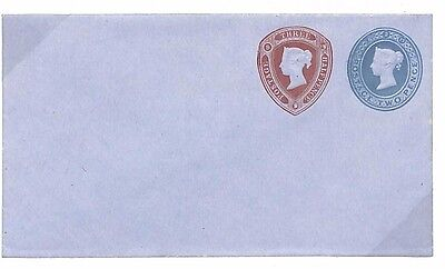 B63 1875 GB QV STAMPED TO ORDER Postal Stationery Superb STO Compound Die Env