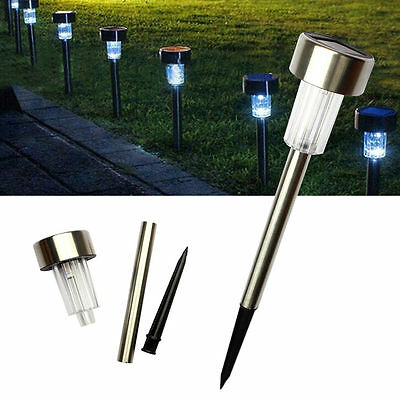 5X Solar Light LED Garden Solar Lights Stainless Steel Waterproof
