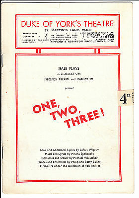 Two Duke Of York's Theater Programmes - One, Two, Three & Four, Five, Six