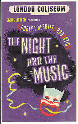 1946 London Coliseum Programme - The Night And Music - Vic Oliver