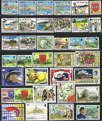 Jersey. Channel Islands. Mixed selection of 36 used stamps
