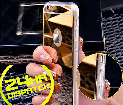Luxury Ultra-thin TPU Gold Mirror Metal Case Cover for iPhone 5 5s {{nm61