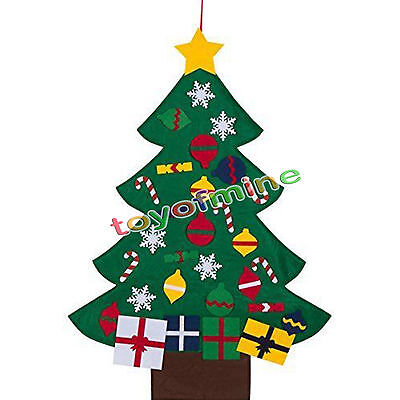 3ft Felt Christmas Tree Set with Ornaments - Wall Hanging Decoration