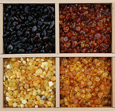 Multicolour Polished Roundish/Baroque Baltic Amber Beads with holes. 10 grams