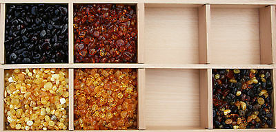 Polished Baltic Amber Beads with holes. (3mm-8mm) Approx. 100 amber beads