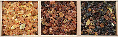 UnPolished Baltic Amber Beads with holes. (5mm-10mm). Approx. 100 amber beads in