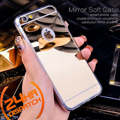 Luxury Ultra-thin TPU Gold Mirror Metal Case Cover for iPhone 6/6s {ns94