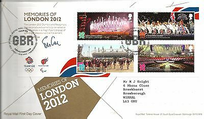 """2012 Olympics Memorier Of London 2012 """"with  Bureau"""" Hand Stamp See Scan"""