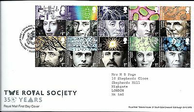 """2010 The Royal Society  """"with  Bureau"""" Hand Stamp See Scan"""