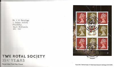 """2010 The Royal Society B-Let Pane """"with  Bureau"""" Hand Stamp See Scan"""