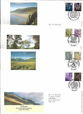 """2010 X 4 Regional Definitive Rate Change """"all Different """" Hand Stamp See Scan"""