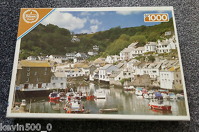 Polperro Harbour Cornwall Falcon 1000 Piece Jigsaw Puzzle