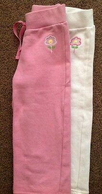 Next Girls Jogging Bottoms 2 pairs pink and white age 1 1/2-2 (18-24 months)