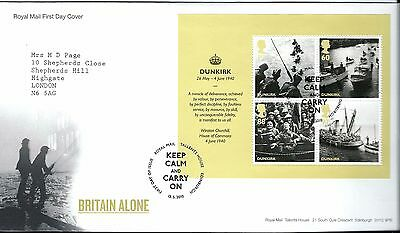 """2010 Britain Alone M-Sheet """"with Bureau """" Hand Stamp See Scan"""