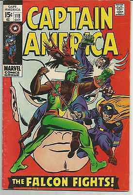 Captain America #118 (Oct 1969, Marvel)  2nd Falcon, nice book FN or better