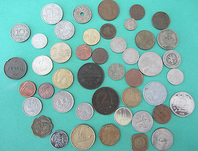 lot world coins including old belgium 1862, 1945 sri lanka and many others
