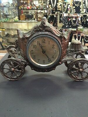 Vintage United Clock Corp  Buggy/Carriage Mantle  Clock ~ Working