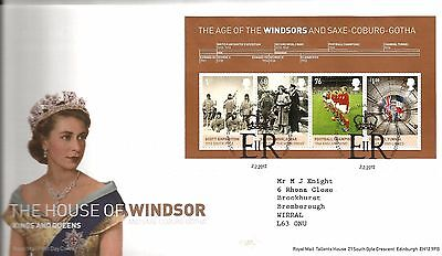 """2012 House Of Windsor M-Sheet """"with  Bureau """" Hand Stamp See Scan"""