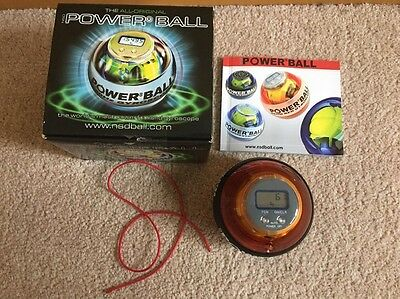 NSD Power Ball Hand Exercise Gyroscope Boxed String + Booklet