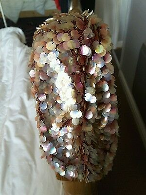 Authentic Hand-Made Vintage 1920s Sequinned Flapper Hat