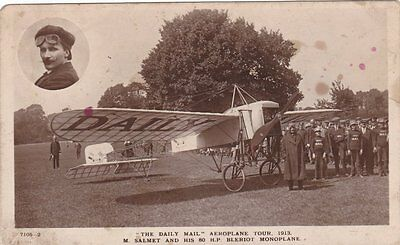 M Salmet And His 80HP Bleriot Monoplane The Daily Mail Aeroplane Tour 1913