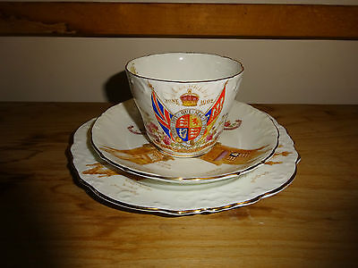 Pretty 1902 Coronation King Edward VII Aynsley China Cup Saucer & Plate.