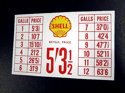 Great Period Pricing Sticker for a Vintage Petrol Pump