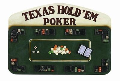 Wooden Texas Hold'Em Poker Pub Sign 3D Art with FREE shipping