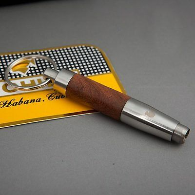 Fine Stainless Steel wood Cigar Punch Cigar Accessories Twist Retractable