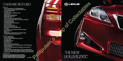 LEXUS: THE NEW IS 250C BROCHURE FROM JANUARY 2009 18 PAGES Out of print