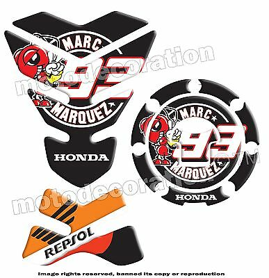 Marc Marquez Repsol Honda Kit Protection Reservoir / Tank Pad & Gas Cover *promo