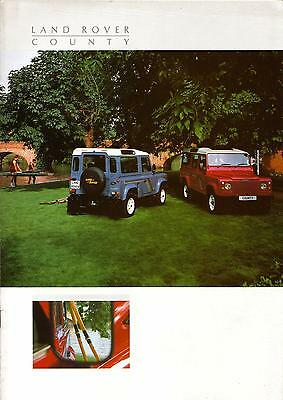 Land Rover 90 110 County Station Wagon 1988-89 Brochure (Land)